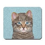 Gray Tabby Cat Mousepad