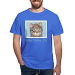 Gray Tabby Cat Dark T-Shirt