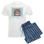 Gray Tabby Cat Men's Light Pajamas