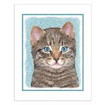 Gray Tabby Cat Small Poster