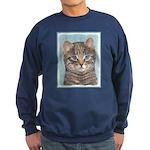 Gray Tabby Cat Sweatshirt (dark)
