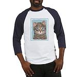 Gray Tabby Cat Baseball Tee