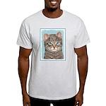Gray Tabby Cat Light T-Shirt