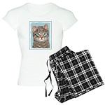 Gray Tabby Cat Women's Light Pajamas