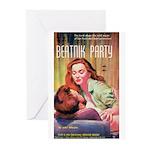 "Greeting (10)-""Beatnik Party"""