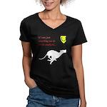 Not just Coursing Women's V-Neck Dark T-Shirt