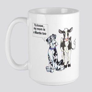 Mantle cow Great Dane Large Mug