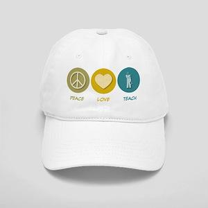 Peace Love Teach Cap