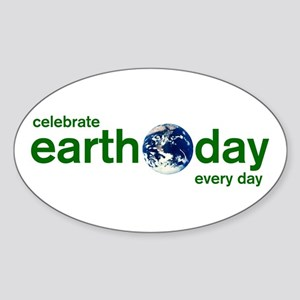 Earth Day Oval Sticker