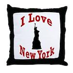 I Love New York Throw Pillow