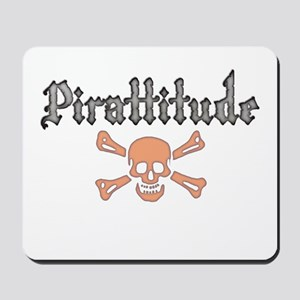 Pirate Red Jolly Roger Mousepad