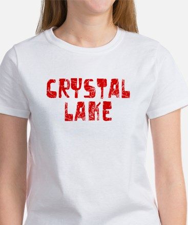 Crystal Lake Faded (Red) Women's T-Shirt