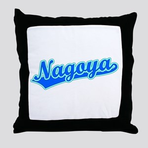 Retro Nagoya (Blue) Throw Pillow