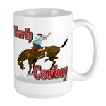 Cowboy Shirts Large Mug