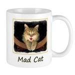 Mad Yellow Tabby Cat 11 oz Ceramic Mug