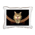 Mad Yellow Tabby Cat Rectangular Canvas Pillow