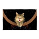 Mad Yellow Tabby Cat Area Rug