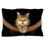 Mad Yellow Tabby Cat Pillow Case