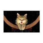 Mad Yellow Tabby Cat 35x21 Wall Decal