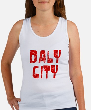 Daly City Faded (Red) Women's Tank Top