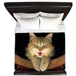 Mad Yellow Tabby Cat King Duvet