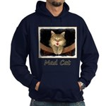 Mad Yellow Tabby Cat Hoodie (dark)