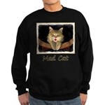 Mad Yellow Tabby Cat Sweatshirt (dark)