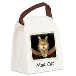 Mad Yellow Tabby Cat Canvas Lunch Bag