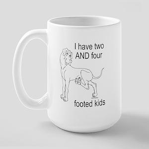 N i2&4feet Great Dane Large Mug