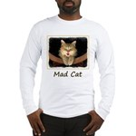 Mad Yellow Tabby Cat Long Sleeve T-Shirt