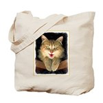 Mad Yellow Tabby Cat Tote Bag