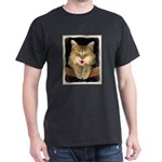 Mad Yellow Tabby Cat Dark T-Shirt