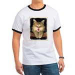 Mad Yellow Tabby Cat Ringer T
