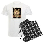 Mad Yellow Tabby Cat Men's Light Pajamas