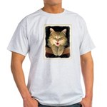 Mad Yellow Tabby Cat Light T-Shirt