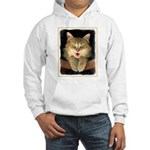 Mad Yellow Tabby Cat Hooded Sweatshirt