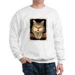 Mad Yellow Tabby Cat Sweatshirt