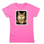 Mad Yellow Tabby Cat Girl's Tee