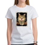 Mad Yellow Tabby Cat Women's Classic T-Shirt