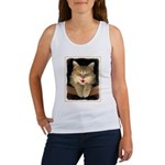 Mad Yellow Tabby Cat Women's Tank Top