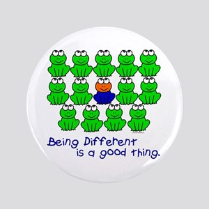 """Being Different 1 (FROGS) 3.5"""" Button"""