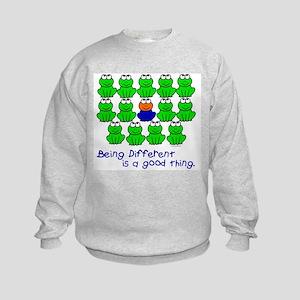Being Different 1 (FROGS) Kids Sweatshirt