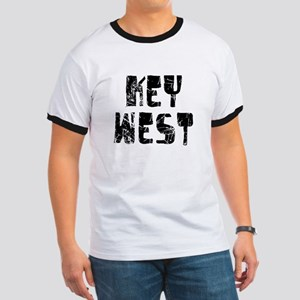 Key West Faded (Black) Ringer T