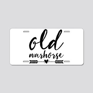 old warhorse Aluminum License Plate