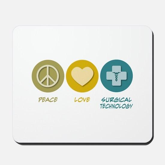 Peace Love Surgical Technology Mousepad