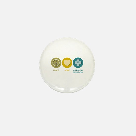 Peace Love Surgical Technology Mini Button