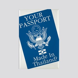 Outsourced Passport Rectangle Magnet