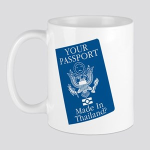 Outsourced Passport Mug