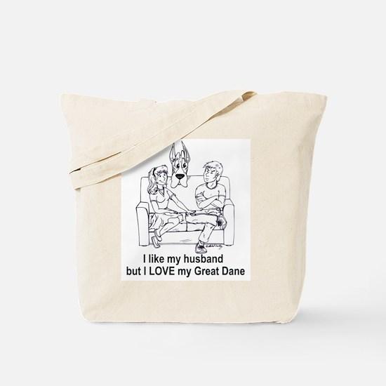 C husband Great Dane Tote Bag