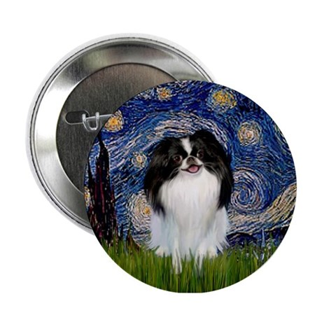 Starry Night & Japanese Chin Button